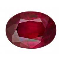 Ruby-Oval: 1.24ct