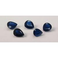 Sapphire-Pear: 8mm x 6mm