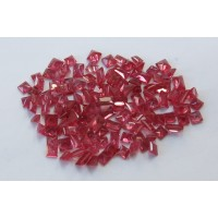 Ruby-Princess Cut: 2.5mm - 3.0 mm