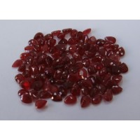 Ruby-Pear: 4mm x 3mm