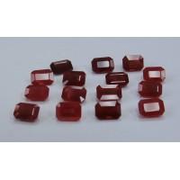 Ruby-Octagon: 7mm x 5mm
