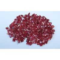 Ruby-Princess Cut: 3.3mm - 3.7mm