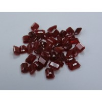 Ruby-Octagon: 6mm x 4mm