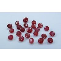 Ruby-Round: 5.0mm - 6.5mm