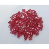 Ruby-Princess Cut: 3.0mm