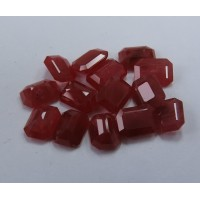 Ruby-Octagon: 8mm x 6mm