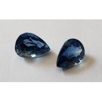 Sapphire Pear: 8mm x 6mm