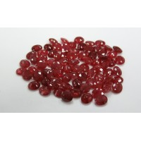 Ruby-Oval: 6mm x 5mm