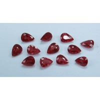 Ruby-Pear: 7mm x 5mm