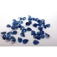 Sapphire-Pear: 7mm x 5mm