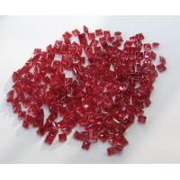 Ruby-Princess Cut: 3.0mm - 3.5mm