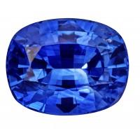 Sapphire-Cushion: 5.09ct