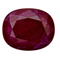 Ruby-Oval: 16.17ct