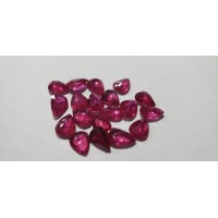 Ruby Pear: 8mm x 6mm