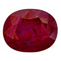 Ruby-Oval: 3.22ct