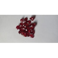 Ruby-Oval: 8mm x 6mm