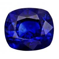 Sapphire-Cushion: 5.05ct