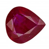 Ruby-Pear: 3.43ct