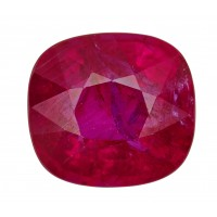 Ruby-Cushion: 3.13ct
