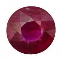 Ruby-Round: 3.41ct