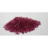 Ruby-Marquise: 4mm x 2mm