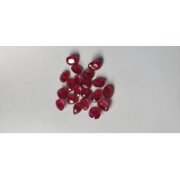 Ruby-Oval: 9mm x 7mm